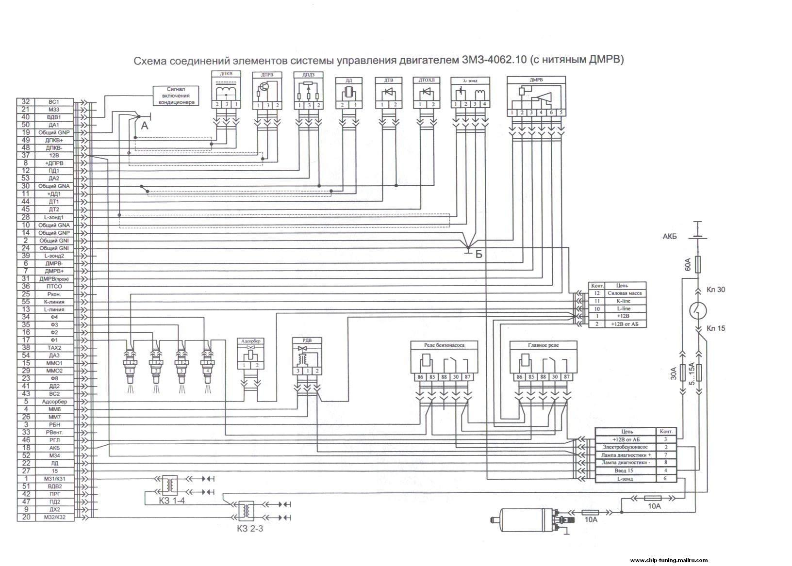 электро схема двс 405 е3