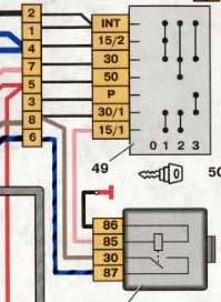 Ваз 2109 инжектор замок зажигания схема подключения